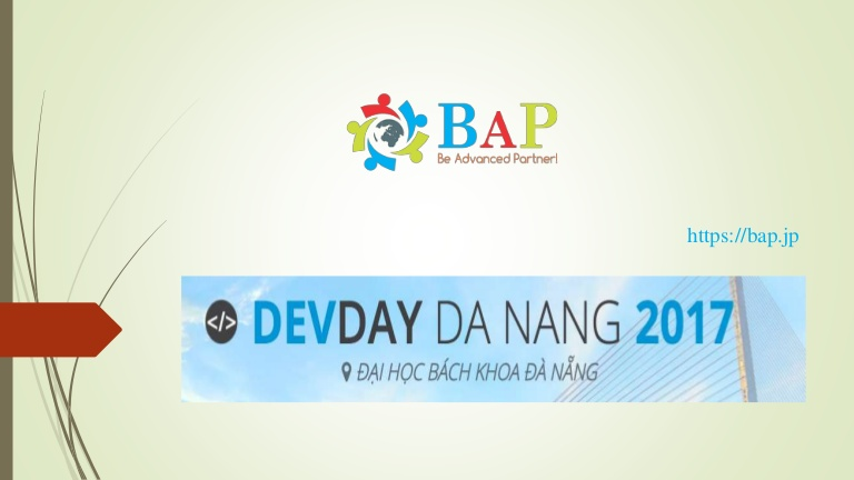 [DevDay 2017] WebRTC: Công nghệ trao đổi video, âm thanh, dữ liệu thời gian thực qua kết nối PvP - Speaker: Quan Nguyen - Deputy Director at BAP